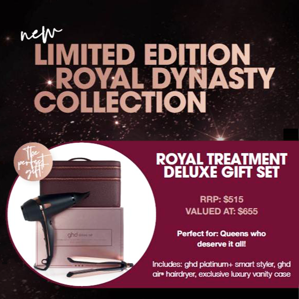 Deluxe ghd Royal set