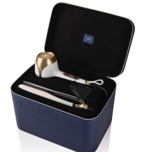 ghd deluxe iridescent white gift set_vanity case open